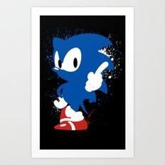 Inky Hedgehog Art Print