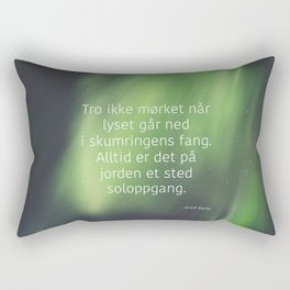 God morgen, far og mor Rectangular Pillow
