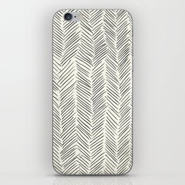 Herringbone Black on Cream iPhone Skin