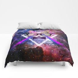 Galaxy cat Comforters