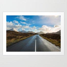 Road of Skye Art Print