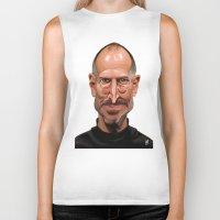steve jobs Biker Tanks featuring Celebrity Sunday ~ Steve Jobs by rob art   illustration