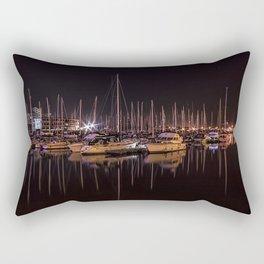 Swansea Marina at night. Rectangular Pillow