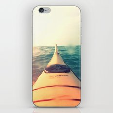 Yellow Kayak in Water Color Nature Photography iPhone & iPod Skin