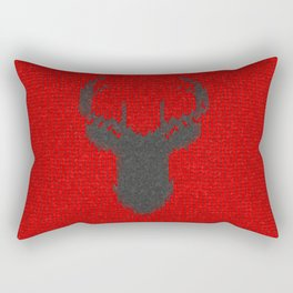 Antiallergenic Hand Knitted Deer Winter Wool Texture - Mix & Match with Simplicty of life Rectangular Pillow
