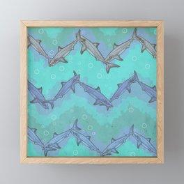 Sharkron (Shark Chevron) Framed Mini Art Print