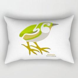 Rock Wren New Zealand Bird Rectangular Pillow