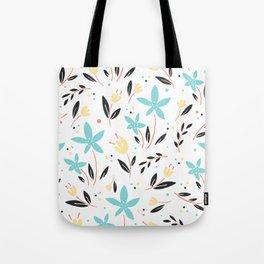 Garden Gate Flowers Motif Tote Bag