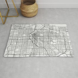Denver City Map of the United States - Light Minimalist Rug
