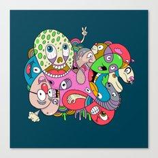 Teenage Mutant Scribble Turtle Canvas Print