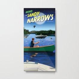 Mind The Sandy Narrows Metal Print
