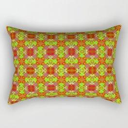 Exotic Ruby & Lime Tile Rectangular Pillow