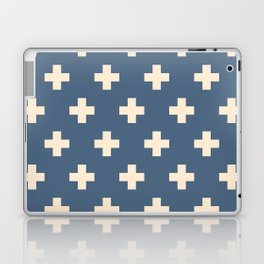 Swiss Cross Blue Laptop & iPad Skin