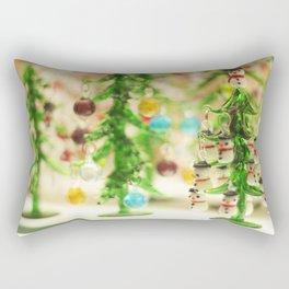 Snowmen Christmas trees Rectangular Pillow