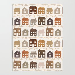 Modern Country Farmhouses Poster