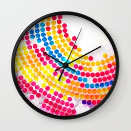Colorful color Circle Dots Pattern for Girls Wall Clock