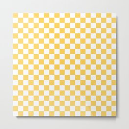 Sunshine and White Checkerboard Metal Print