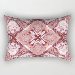 Pink Squares and Twisters Rectangular Pillow