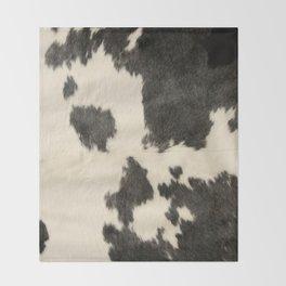 Black & White Cow Hide Throw Blanket
