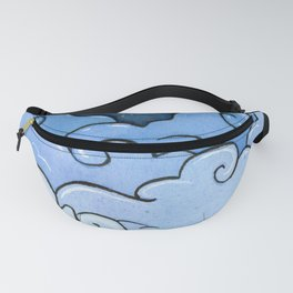 Blue clouds Fanny Pack