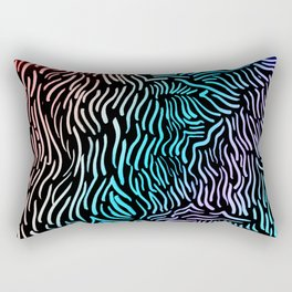 Wavy Vibes Holo Rainbow Abstract Drawing Rectangular Pillow