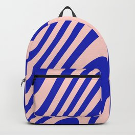 Blue And Pink Zebra Grooves Abstract Pattern  Backpack