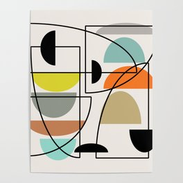 "Mid Century Modern ""Bowls"" Poster"