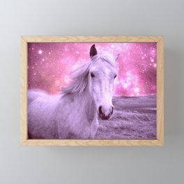 Pink Horse Celestial Dreams Framed Mini Art Print