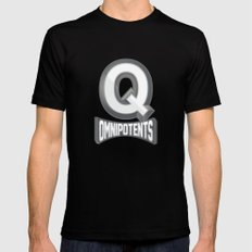 Q Omnipotents Black Mens Fitted Tee MEDIUM