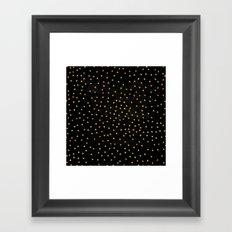 Gold Triangles on Black Framed Art Print