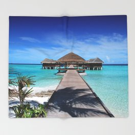 Tropical,exotic background Throw Blanket