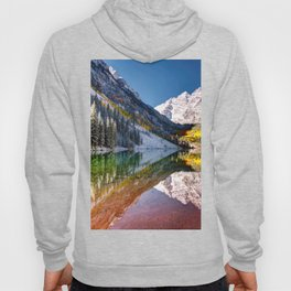 OLena Art Maroon Bells And Maroon Lake Near Aspen Colordo Hoody