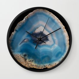 Blue Geode Wall Clock
