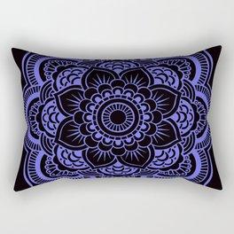 Mandala Black & Periwinkle Rectangular Pillow