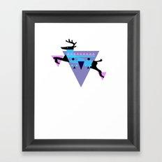 ∆ztec Deer Framed Art Print
