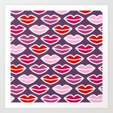 KISSES FOR YOU Art Print