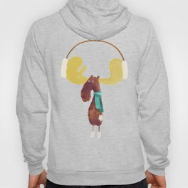 This moose is ready for winter Hoody