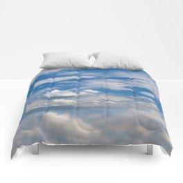 Sunny cirrus and cumulus cloudscape Comforters