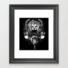 Lion Crest Framed Art Print