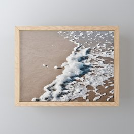 Foam on the beach on the Sunshine Coast Framed Mini Art Print