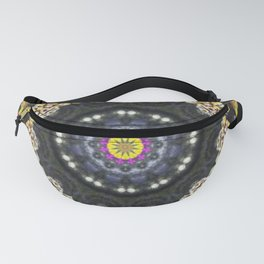 Kaleidoscope of Colour Feather Brush Fanny Pack