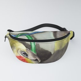 Chit Chat Cockatiel Painting Fanny Pack