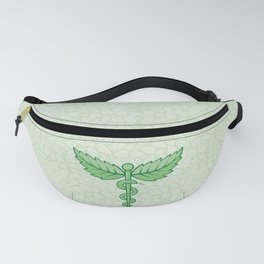 Caduceus with leaves Fanny Pack