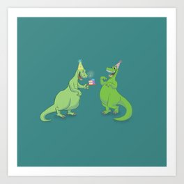 Birthdaysaurus Rex Art Print