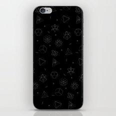 sacred seamless black iPhone & iPod Skin