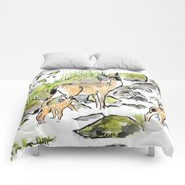 Deer in Creek Comforters