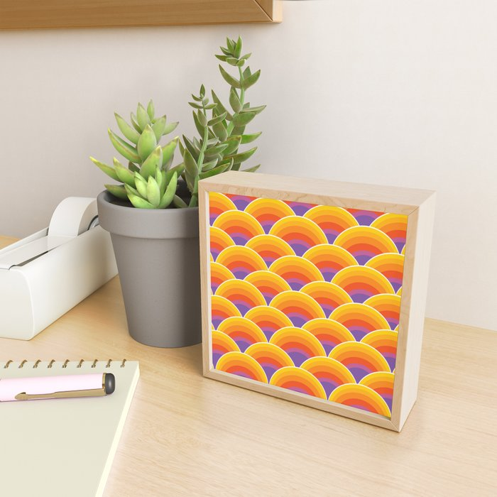Psychedelic Sea Framed Mini Art Print