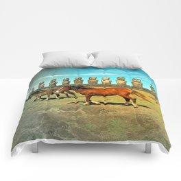 EASTER ISLAND SCENE Comforters
