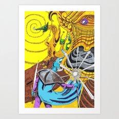 The Wizard 70's Art Print