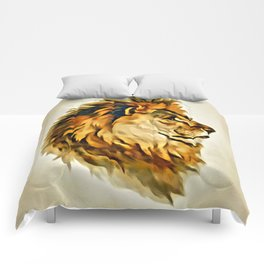 MAJESTIC LION PORTRAIT Comforters
